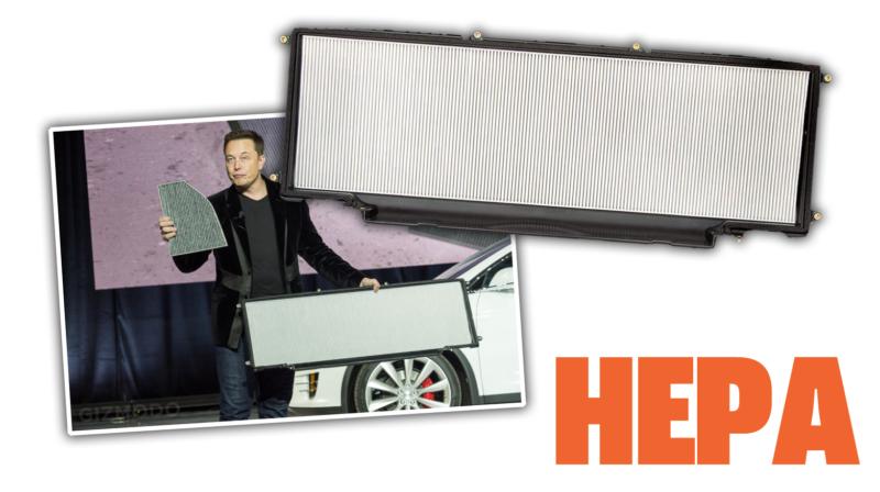 Elon Musk shows HEPA filter