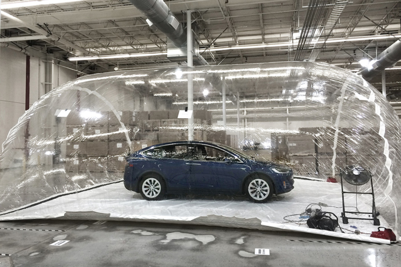 Tesla HEPA filter test